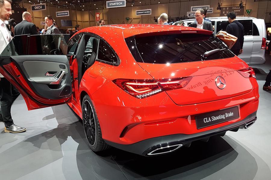 Mercedes-Benz CLA Shooting Brake Geneva - rear end doors open