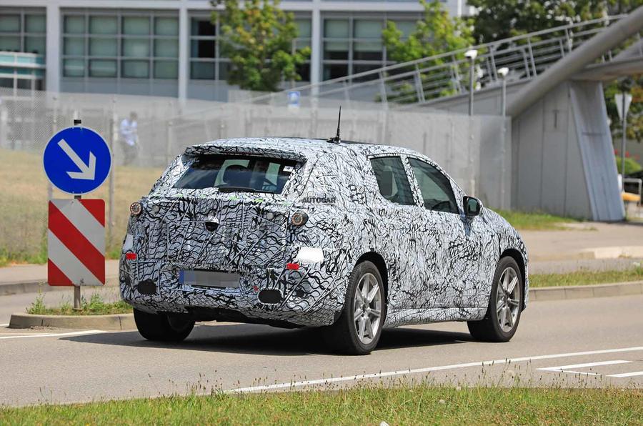 Mercedes EQE spyshot side rear