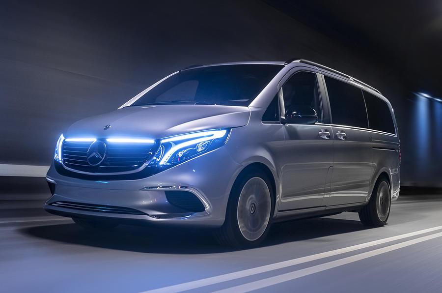Mercedes EQV concept - hero front