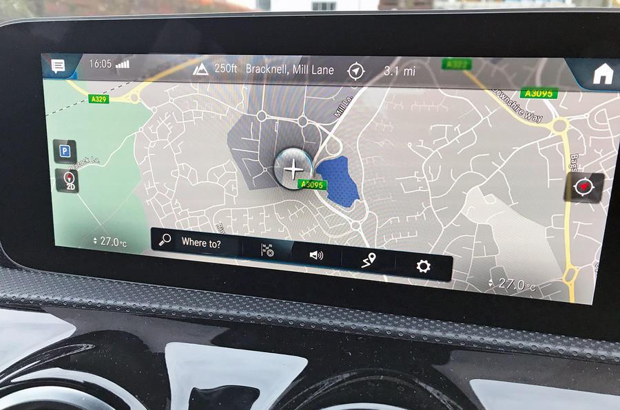 Mercedes A-Class long-term review - map