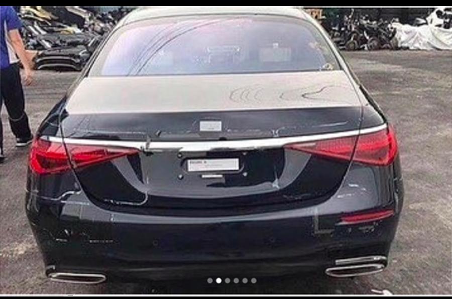 Mercedes S-Class leak rear