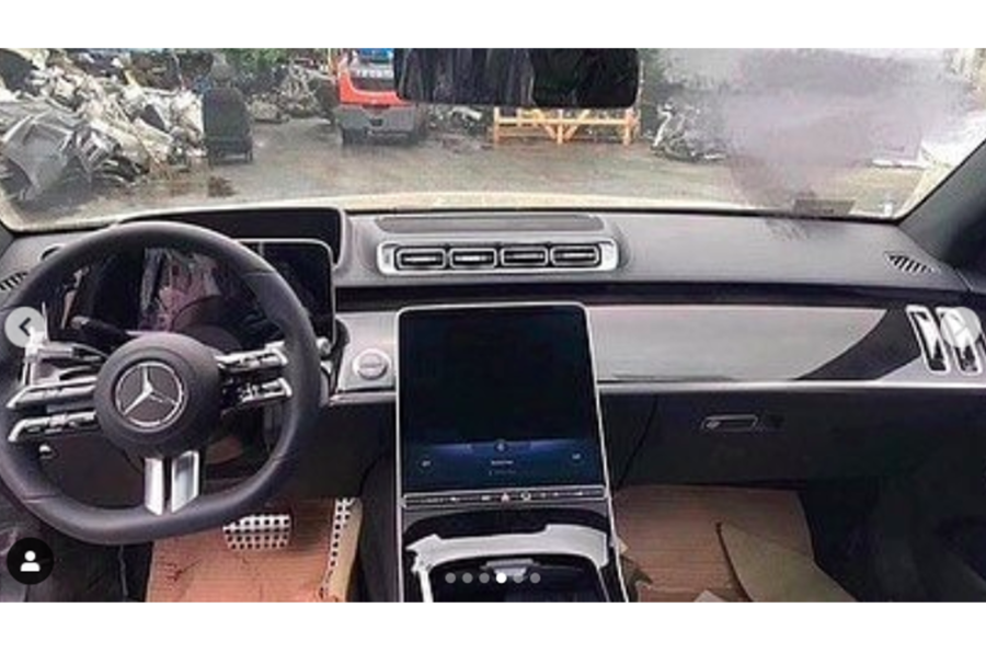 2021 mercedes s class partially leaked in social media shots autocar