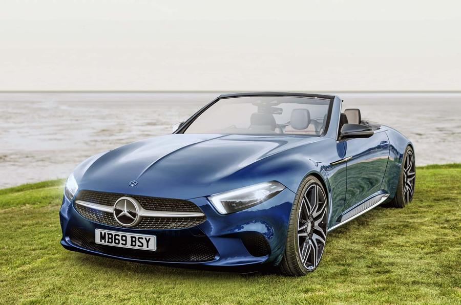 Mercedes SL render by Autocar