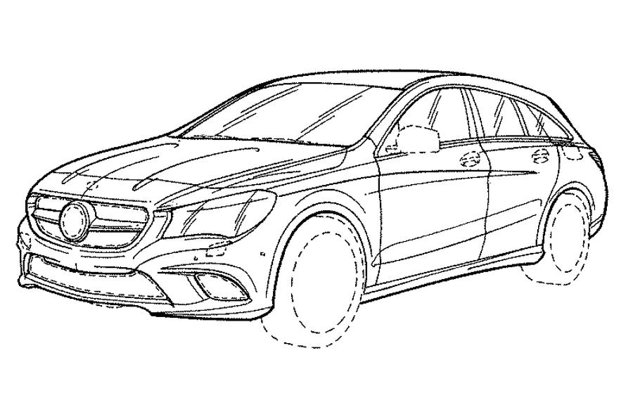 2016 Mercedes CLA Shooting Brake revealed in patent images