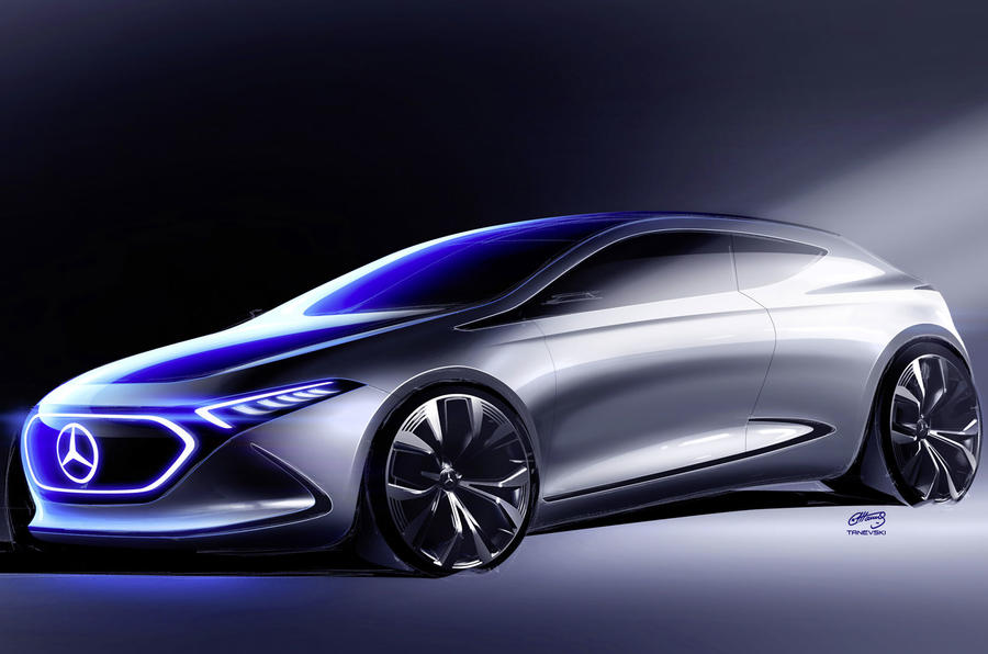 Mercedes EQ A electric hatchback previewed ahead of Frankfurt
