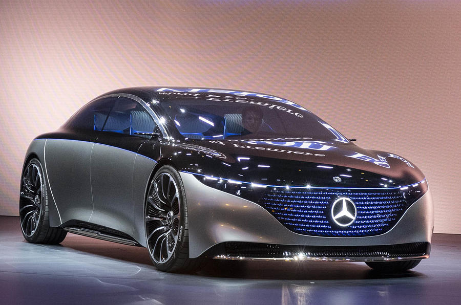 Mercedes-Benz's electric car concept has an LED grille and 'fragrance flask' class=