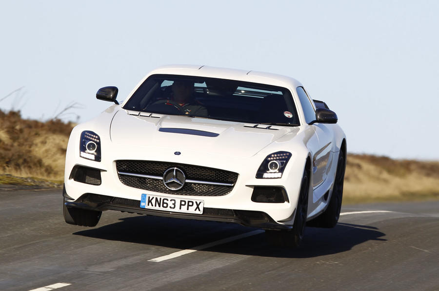 The SLS Black Series has a 622bhp 6.2-litre engine, but an AMG GT Black Series could eclipse it in terms of performance