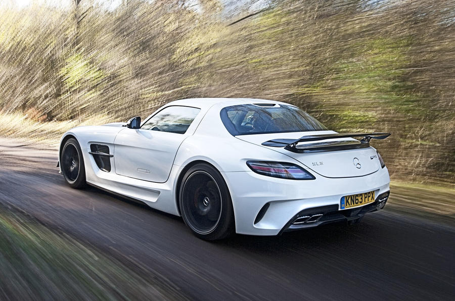 The SLS Black Series was capable of a 3.6 second run from 0-62mph
