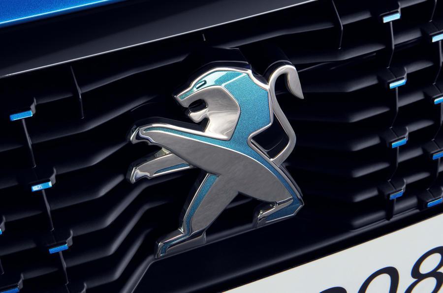 Peugeot logo on grille