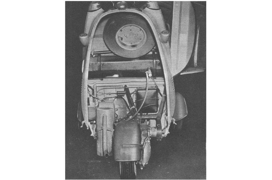Messerschmitt KR200 tail opening