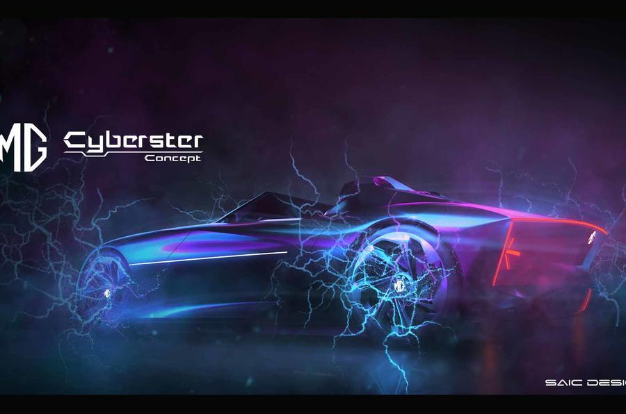 MG Cyberster side