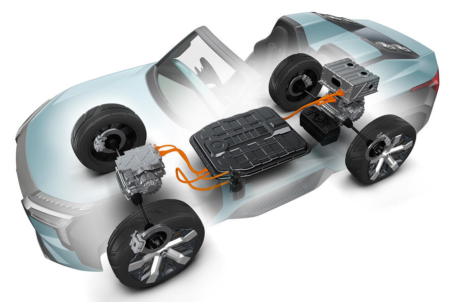 Mitsubishi Mi-Tech concept - powertrain