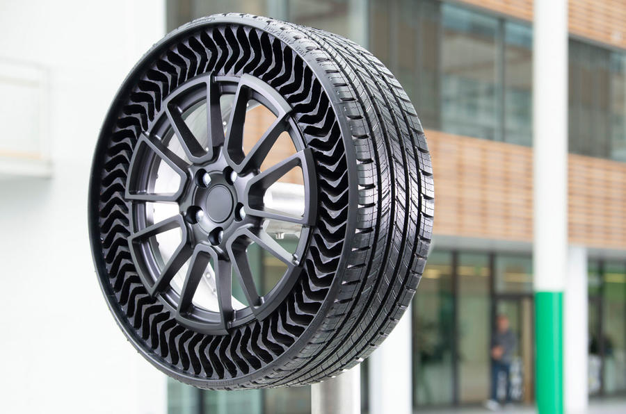 Michelin Uptis tyre concept rubber