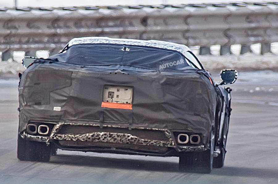2019 Corvette C8: new pictures of 700bhp mid-engined supercar