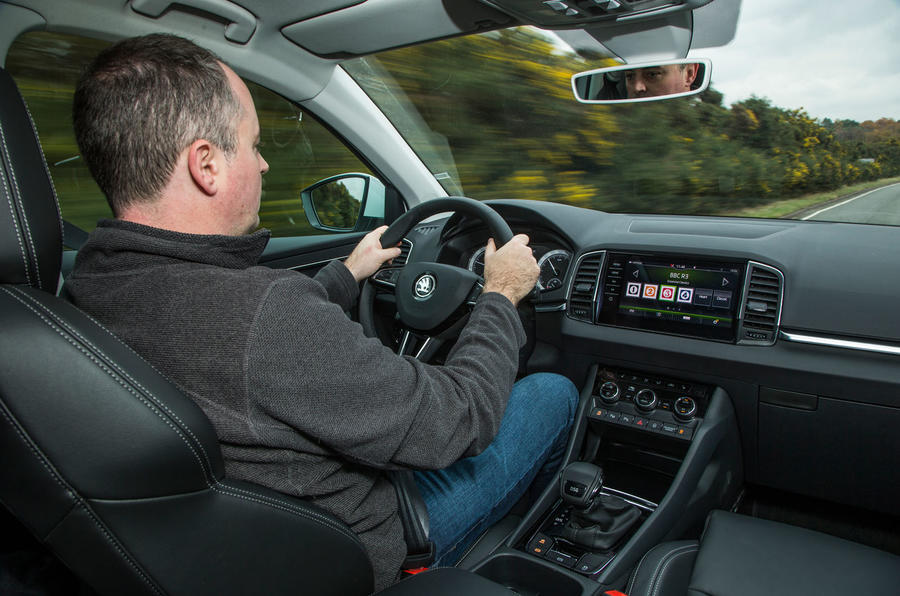 Mike Duff driving the Skoda Karoq 1.5 TSI
