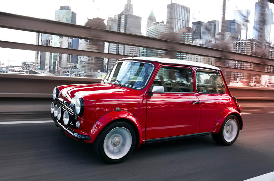One-off electrified classic Mini gathers attention at New York Motor Show
