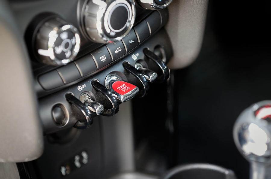 Mini JCW Challenge ignition button