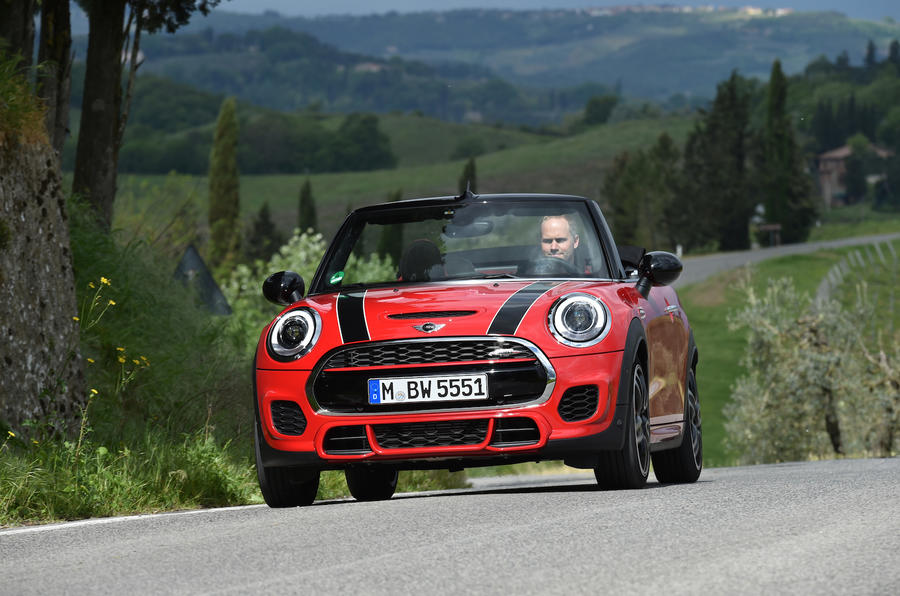 Mini JCW Convertible cornering