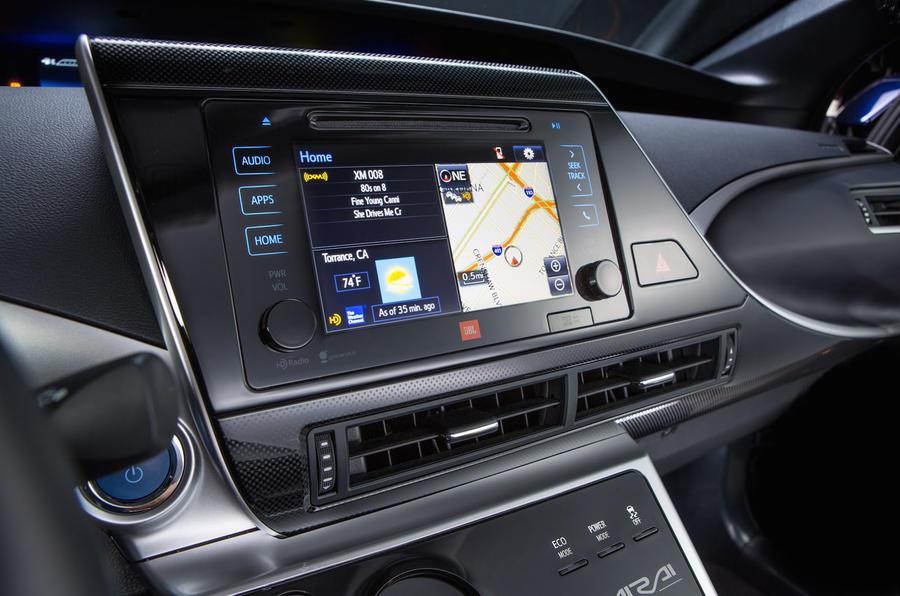 Toyota Mirai infotainment system