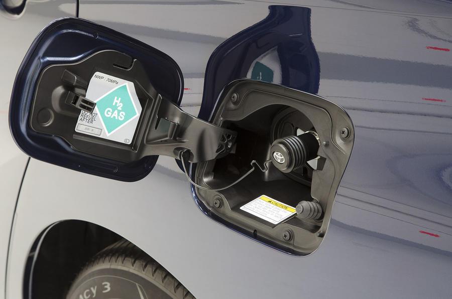 Toyota Mirai hydrogen fuel cap