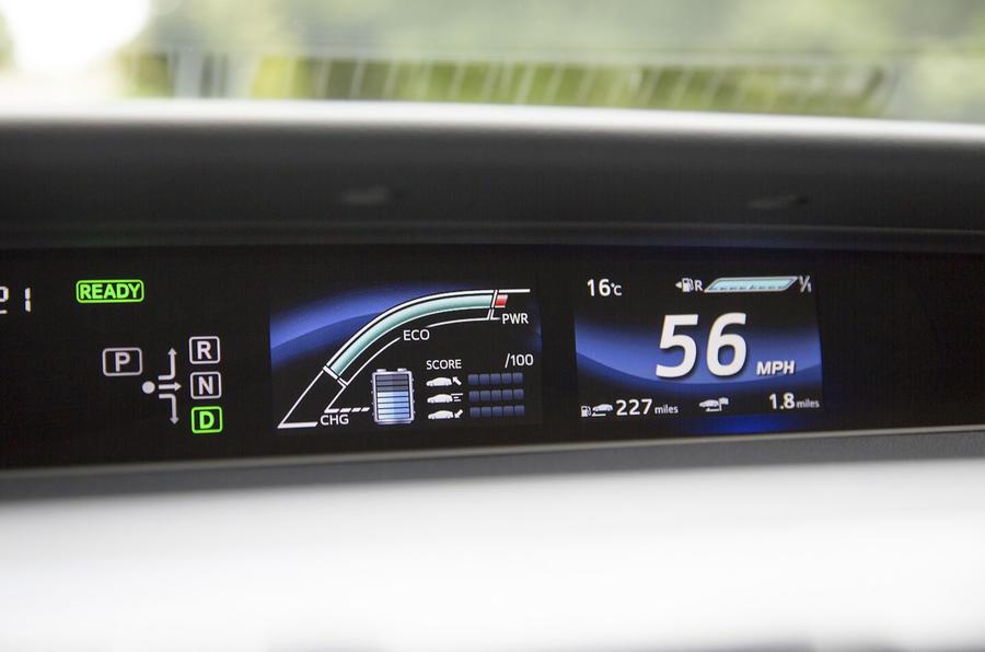Toyota Mirai information displays