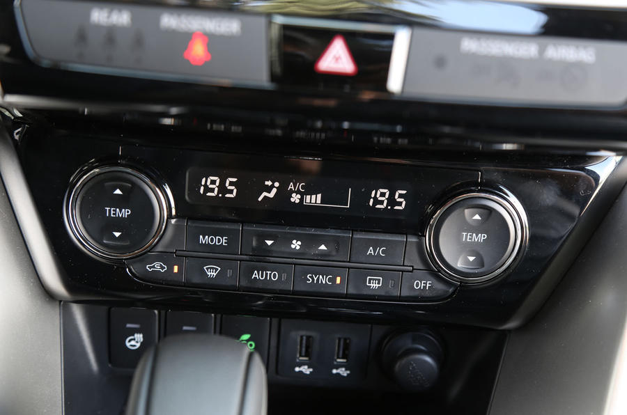 Mitsubishi Eclipse Cross climate controls