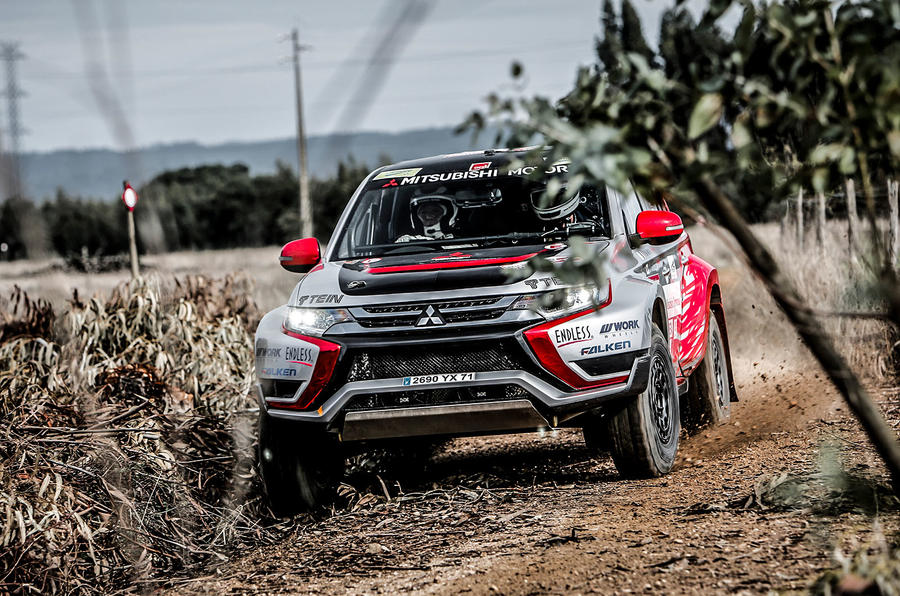 How to go rallying in a Mitsubishi Outlander PHEV | Autocar