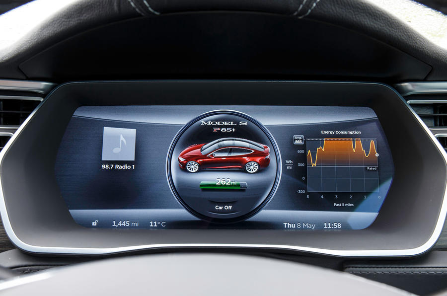 Tesla Model S 7.0 instrument cluster