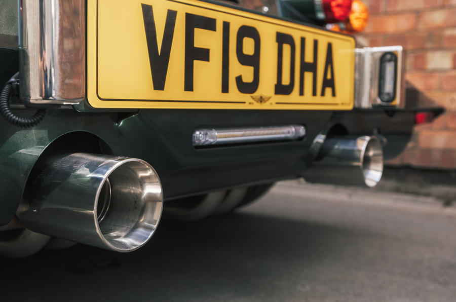 Morgan Plus Six exhaust pipes