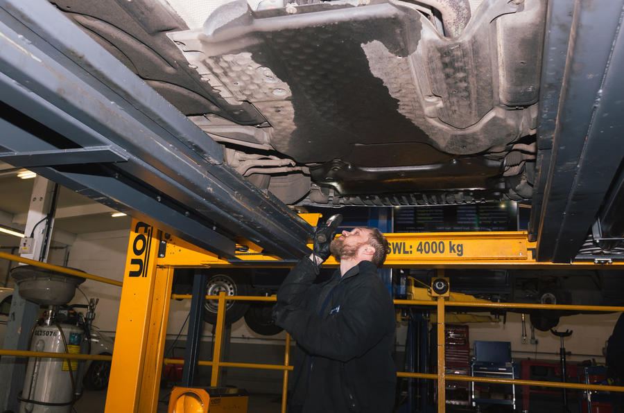 Motest car testing - floorpan underneath