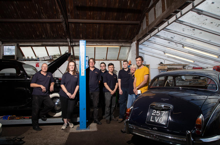 The resurrection of a run-down village garage