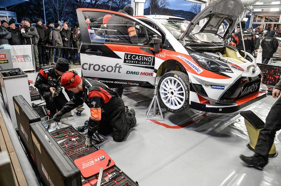 Jari-Matti Latvala guided his new Yaris WRC to the podium