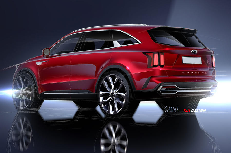 2020 Kia Sorento official render - rear