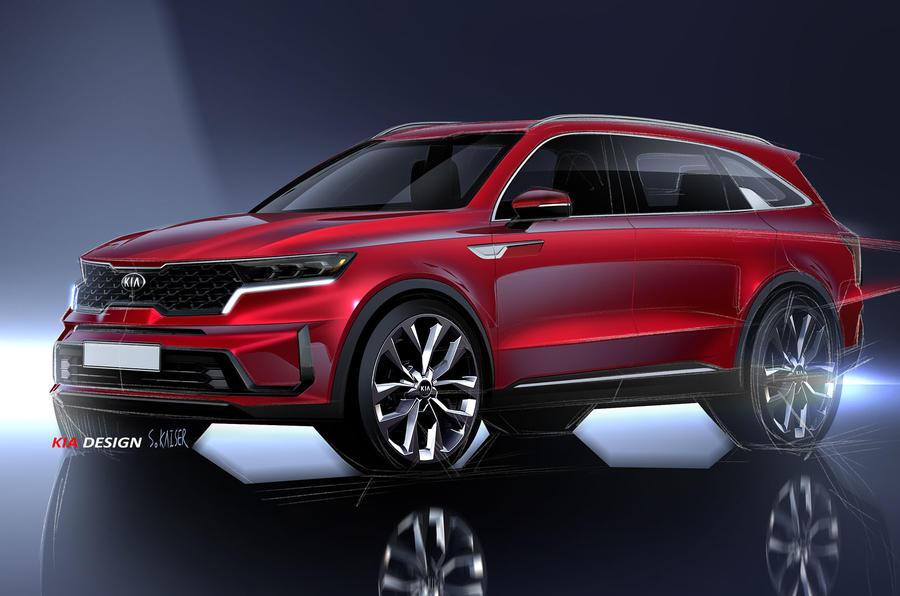 2020 Kia Sorento official render - front