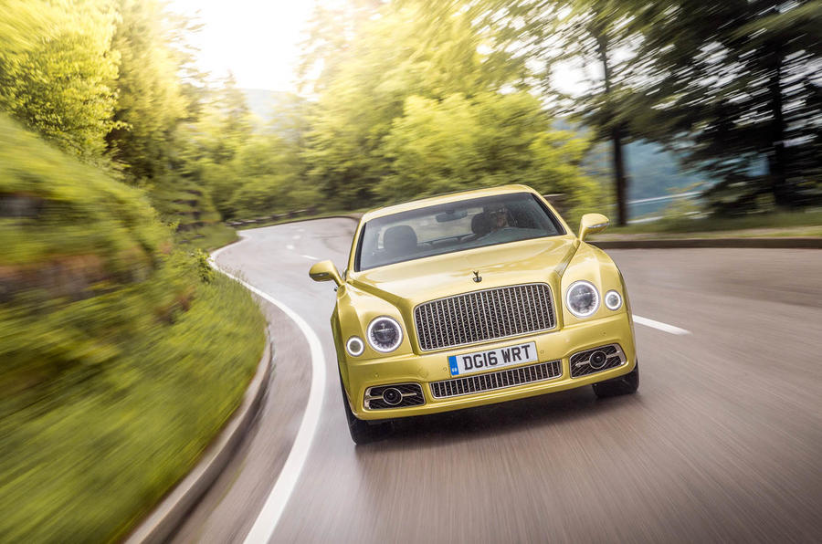 Bentley Mulsanne Speed cornering