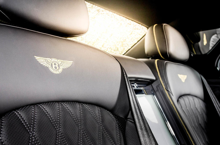 Bentley Mulsanne Speed seat stitching