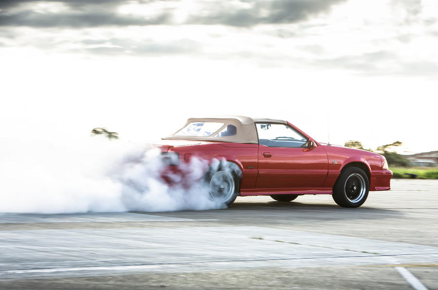 Ford Mustang burnout five generations