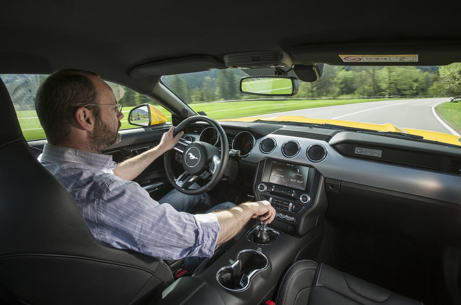 Driving the Ford Mustang Fastback
