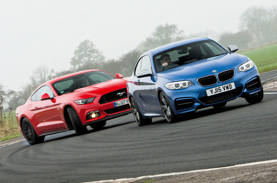 Ford Mustang versus BMW M235i - comparison | Autocar
