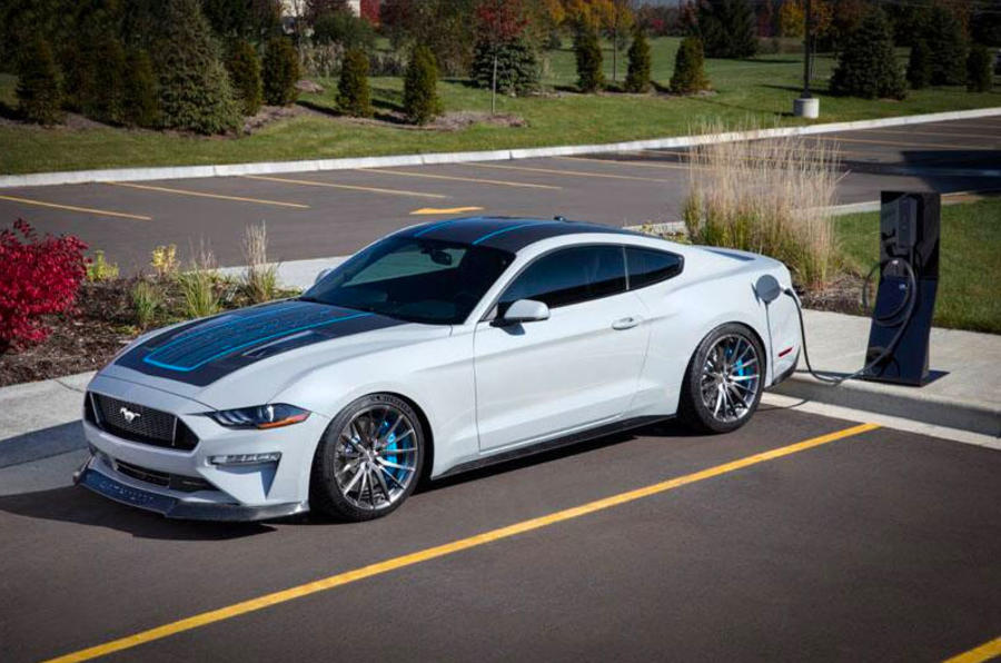 Ford unveils 888bhp electric Mustang at 2019 SEMA show ...