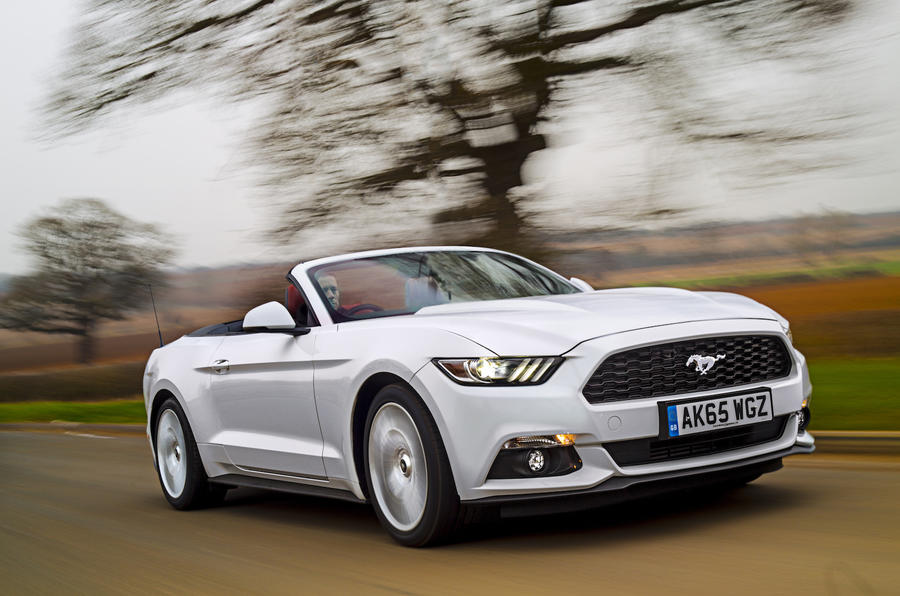 2016 ford mustang 5 0 v8 gt convertible uk review review autocar. Black Bedroom Furniture Sets. Home Design Ideas