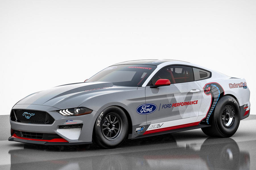 Ford Mustang Cobra Jet 1400 is a factory electric dragster