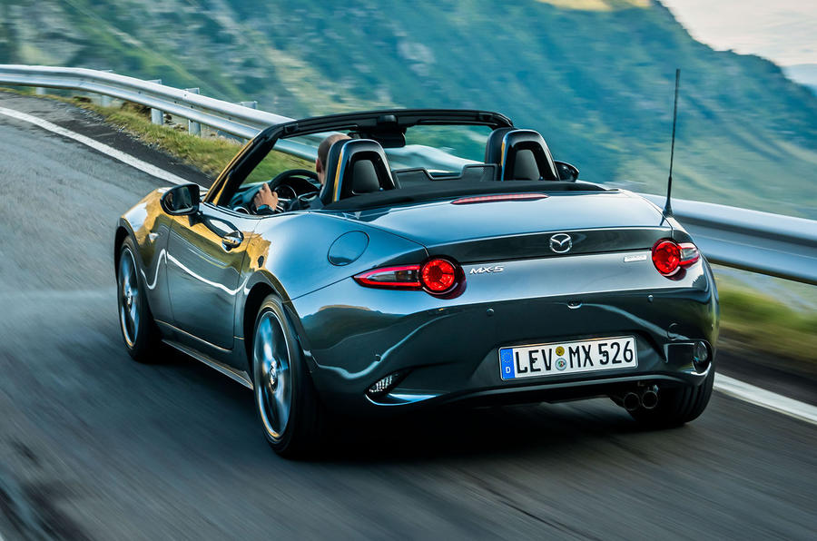 Mazda MX-5 Skyactiv-G 2.0 2018 first drive review hero rear