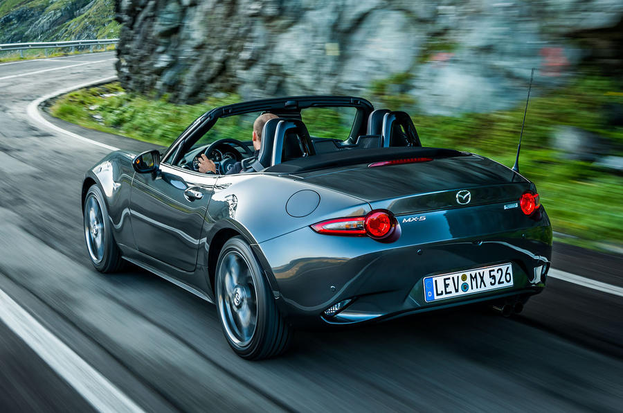 Mazda MX-5 Skyactiv-G 2.0 2018 first drive review on the road rear