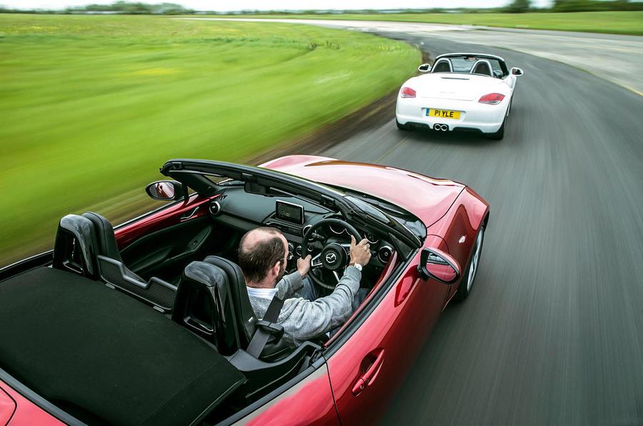 Mazda MX-5 vs Porsche Boxster