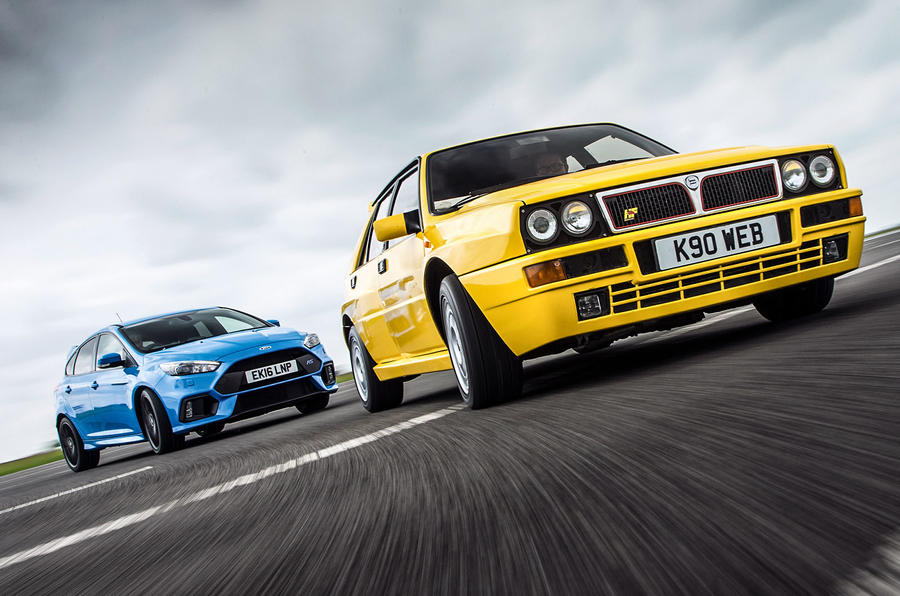 2016 Focus Rs >> Ford Focus RS vs Lancia Delta HF Integrale Evo 1: new vs used | Autocar