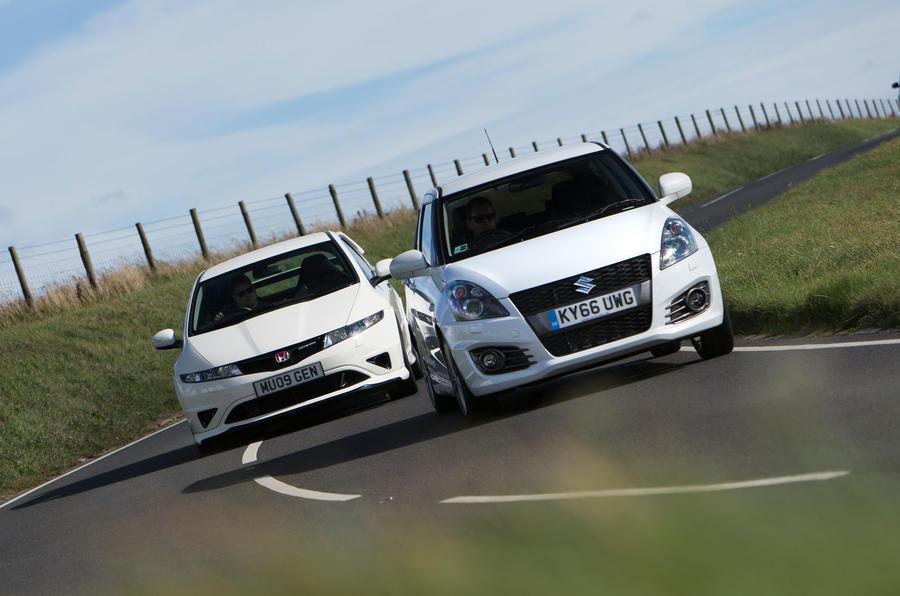 Suzuki Swift Sport vs Honda Civic Type R Mugen vs Renault Clio Cup