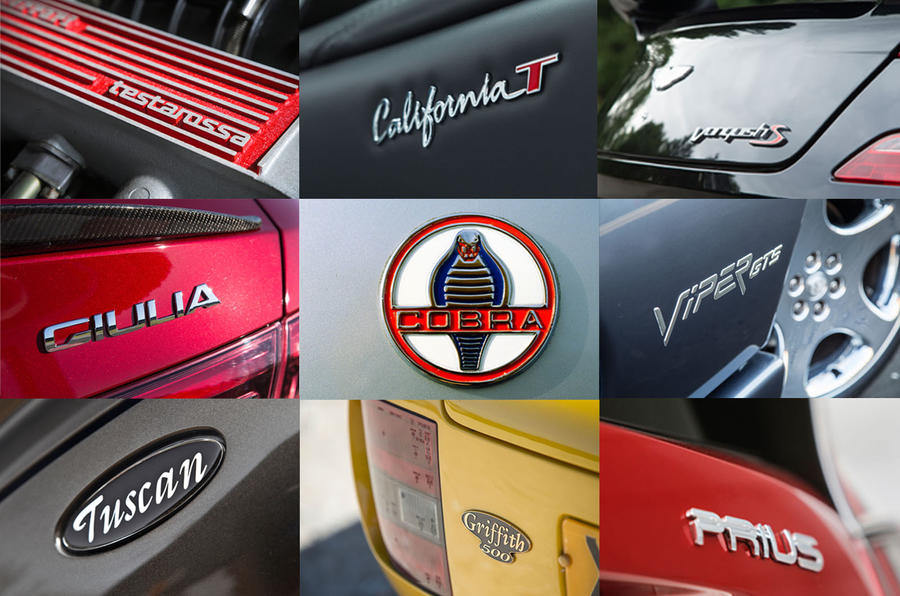The name game: how big brands name their new models  Autocar