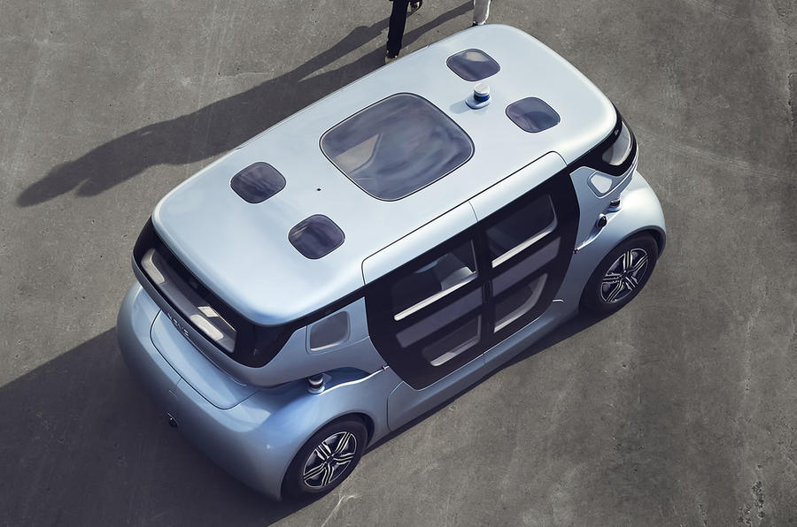 NEVS Sango self-driving shuttle - roof