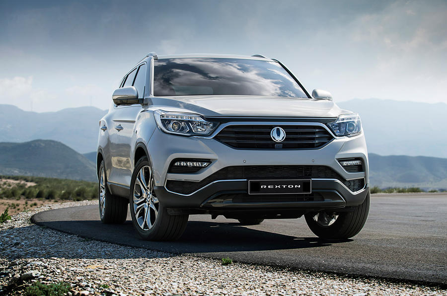 Ssangyong Rexton production model from front